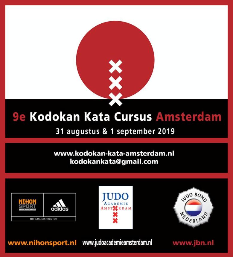 Aankondiging 9e kodokan kata cursus Amsterdam